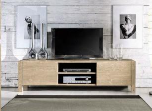 ... » Moderno, Design & Nature » Porta TV Legno Massello Natural 02