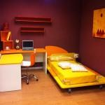 Letto e scrivania Arancio e Ocra 01