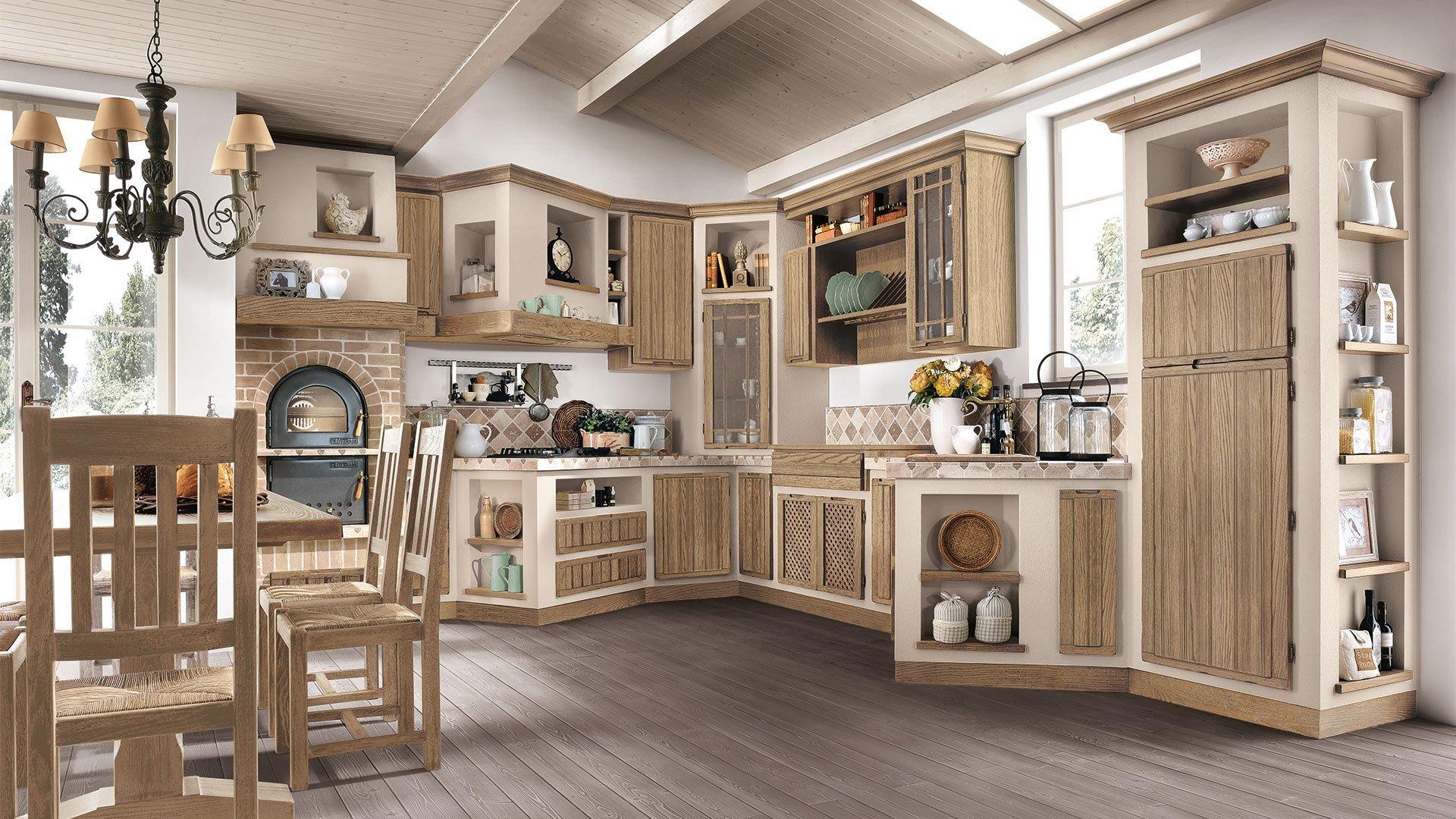 Cucina elena borgo antico vissani casa - Cucine finta muratura lube ...