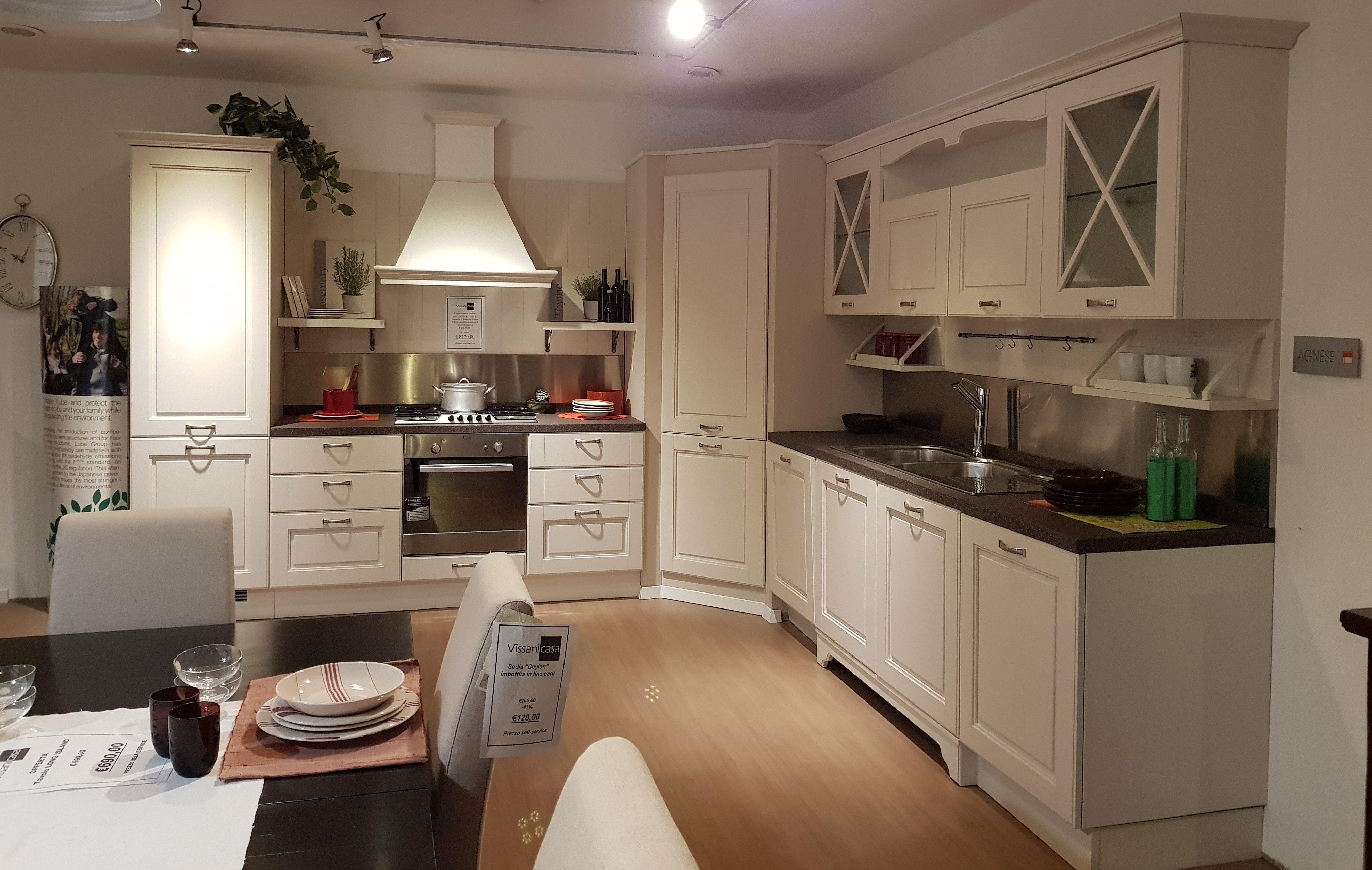 Cucina Lube Agnese Bianco Camelia - Vissani Casa