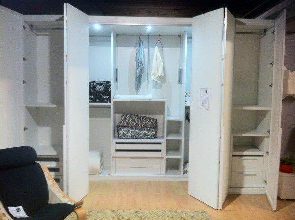 Cabina armadio bianca vetro vissani casa for Cabina armadio outlet