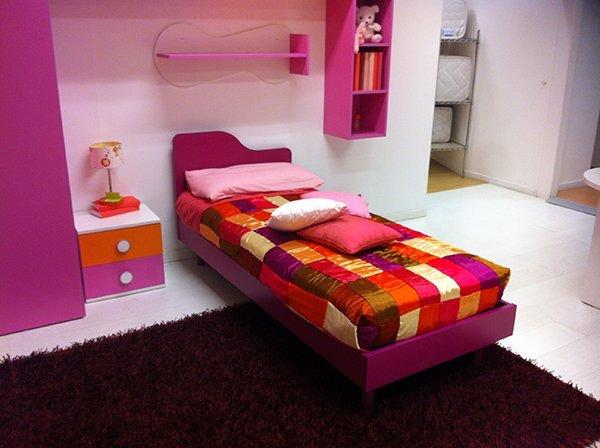Cameretta Lilla E Arancione : Cameretta singola ad angolo lilla vissani casa