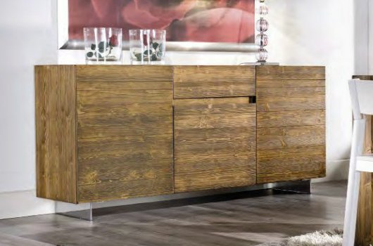 Madia legno massello natural 01 vissani casa for Madia design outlet