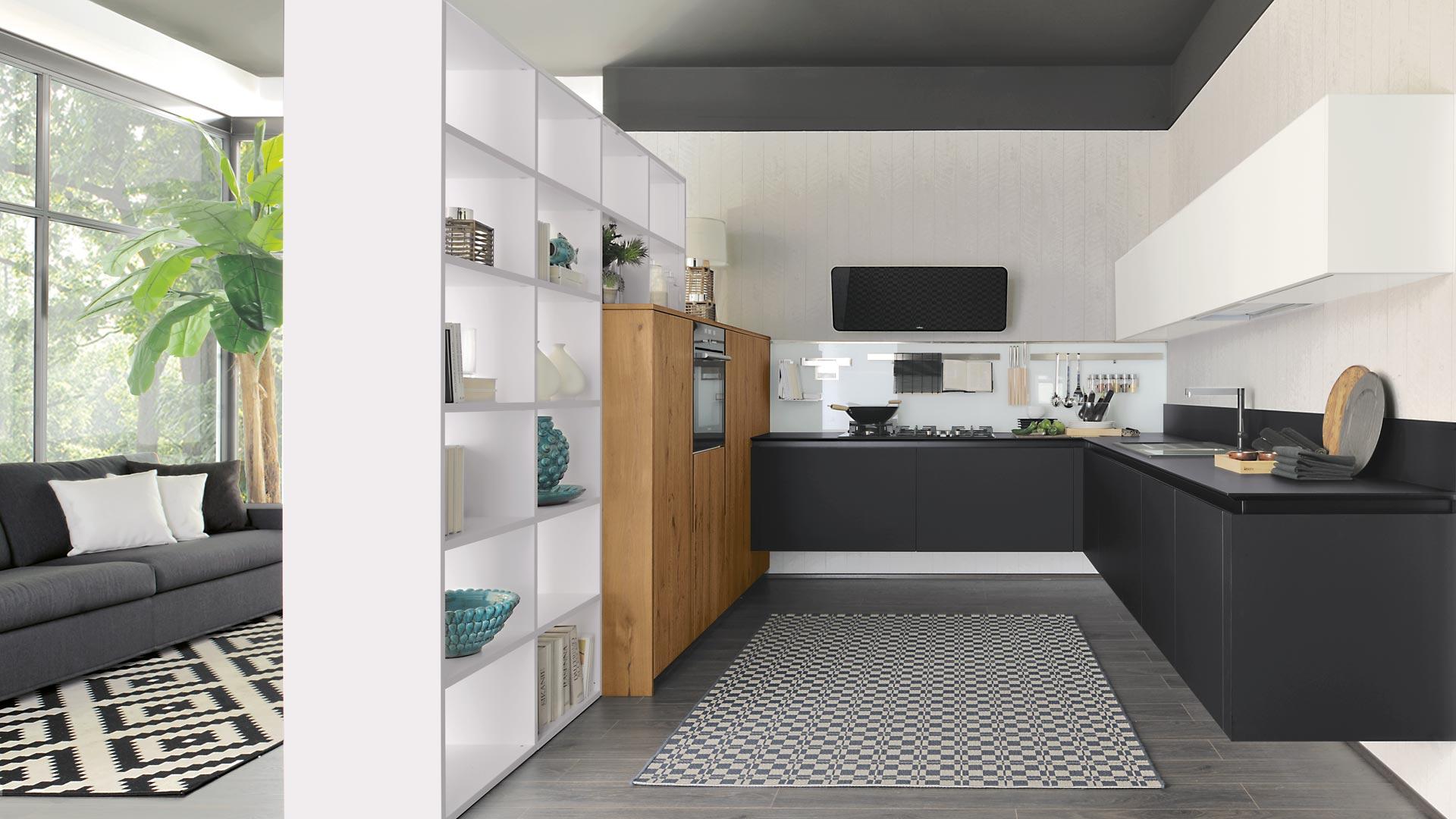 Cucina Lube Oltre Nera Rovere - Vissani Casa