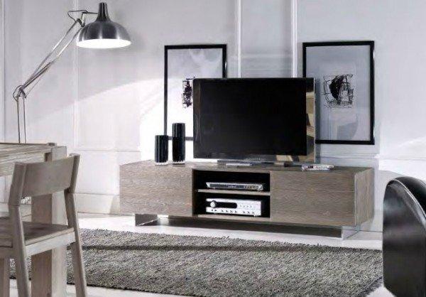 Porta TV Legno Massello Natural 01 - Vissani Casa
