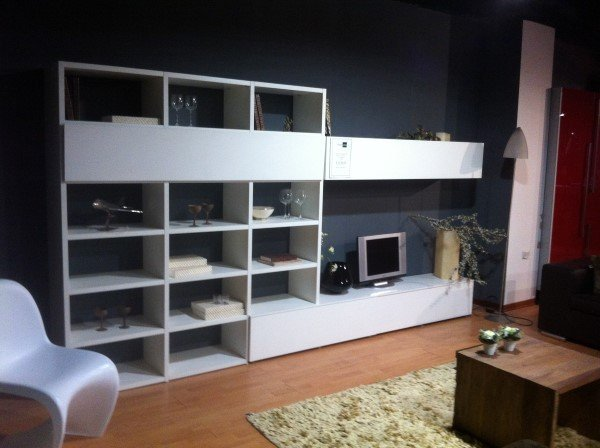 Soggiorno Libreria Bianco Opaco SIL - Vissani Casa