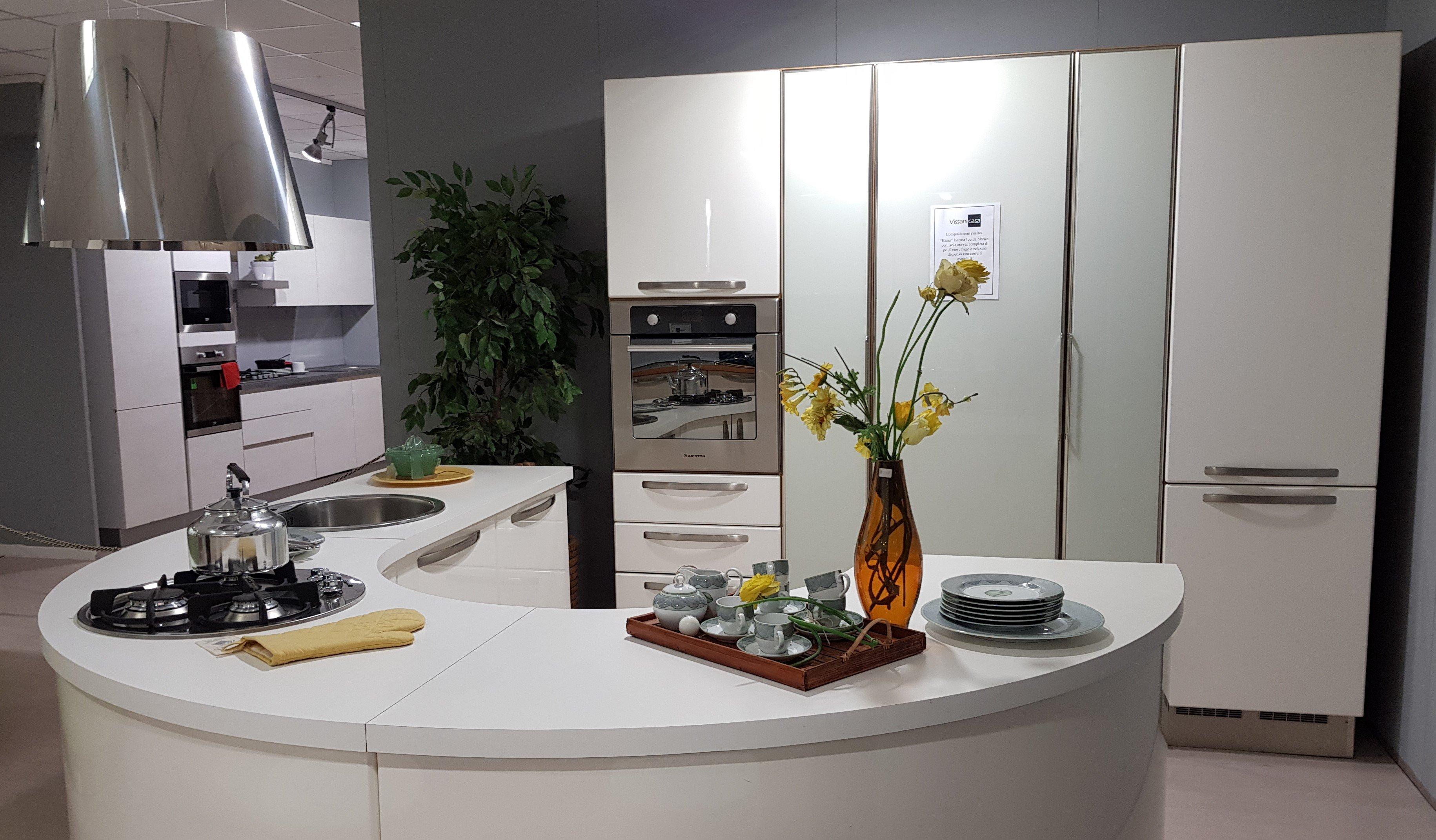 Cucina Lube Modello Katia Prezzo : Cucina lube katia bianco laccato lucido vissani casa