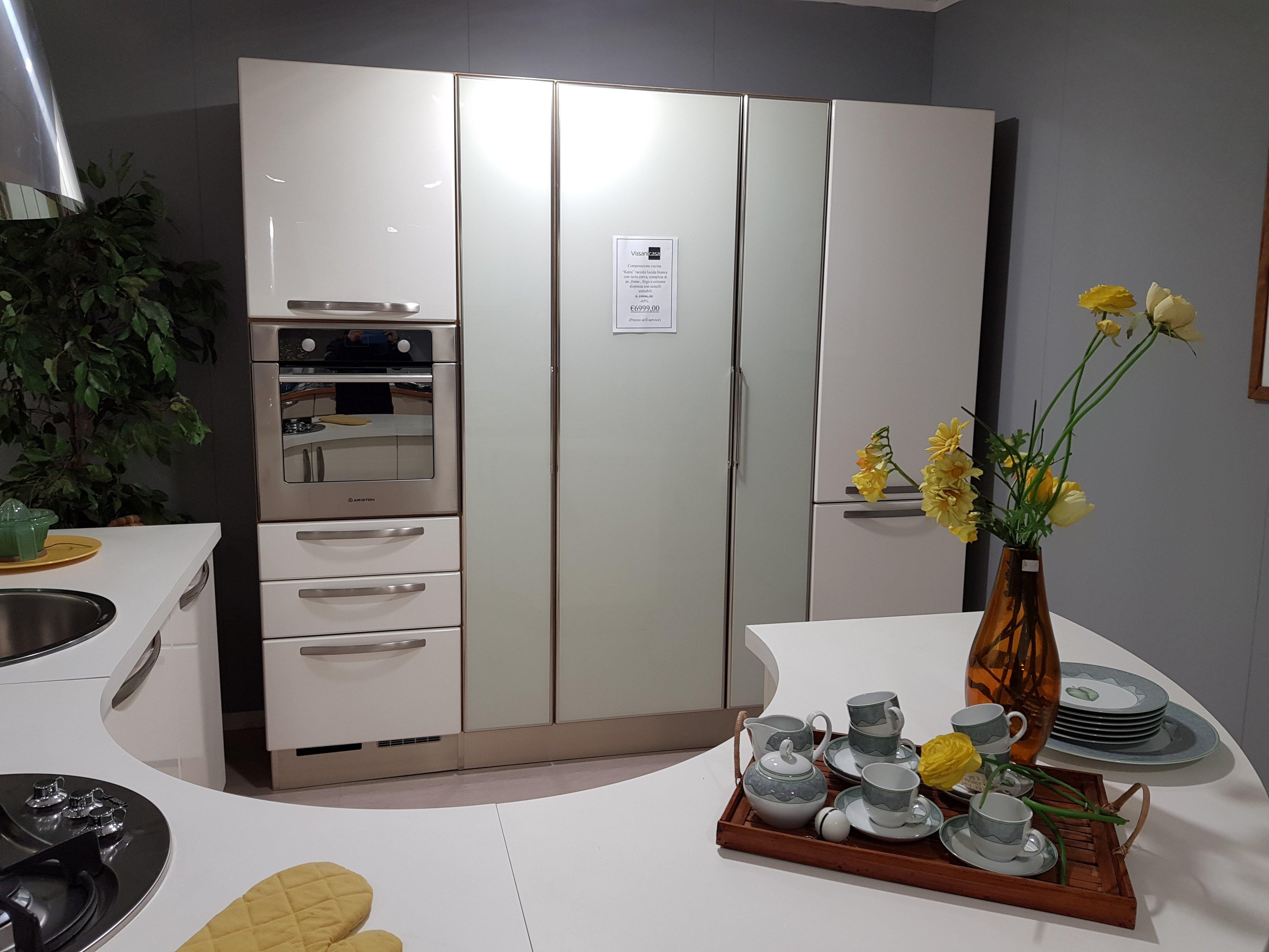 Cucina Lube Katia bianco laccato lucido - Vissani Casa