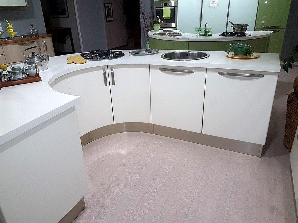 Cucina lube katia bianco laccato lucido vissani casa