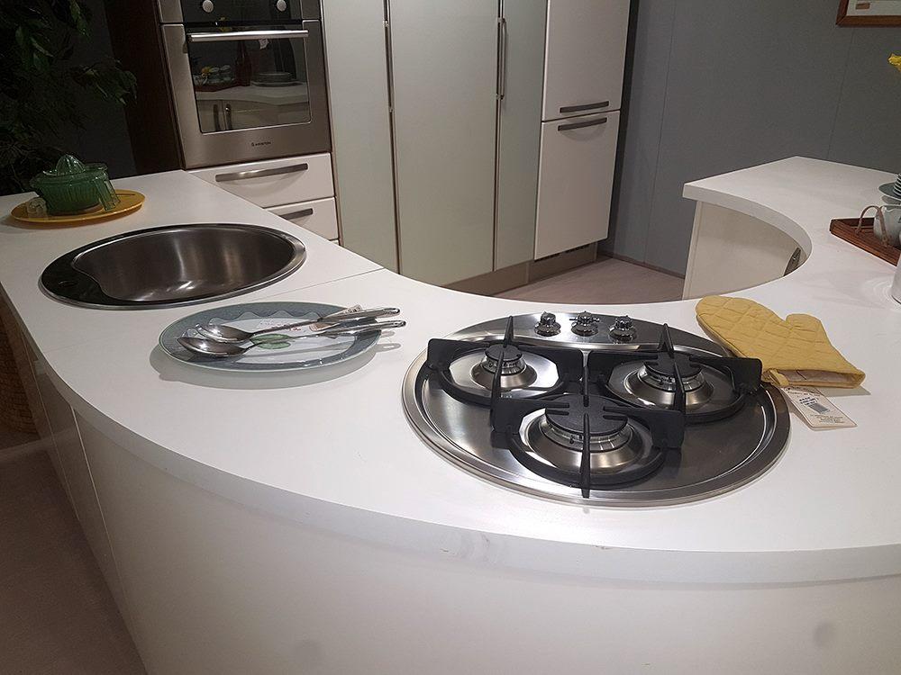 Cucina Lube Katia bianco laccato lucido